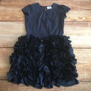 Hanna Andersson 130 Navy Ruffle Skirt Dress